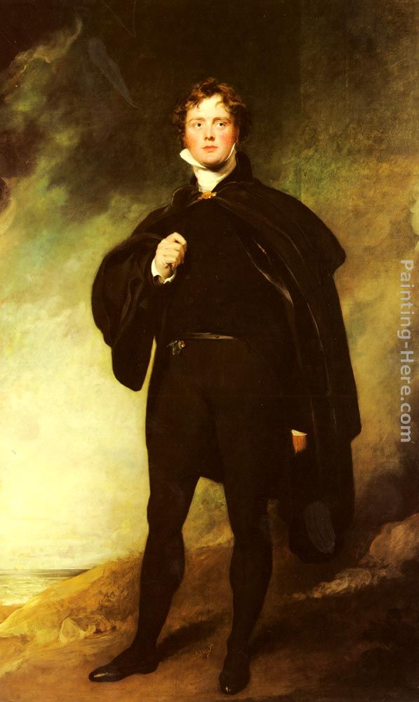 Portrait Of George Nugent Grenville, Lord Nugent painting - Sir Thomas Lawrence Portrait Of George Nugent Grenville, Lord Nugent art painting