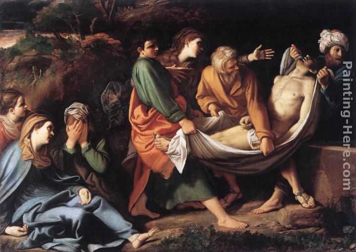The Entombment of Christ painting - Sisto Badalocchio The Entombment of Christ art painting