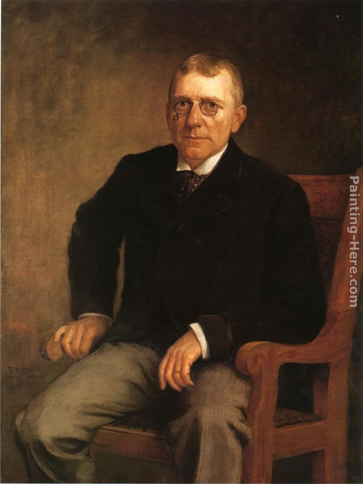 Theodore Clement Steele Portrait of James Whitcomb Riley Art Painting