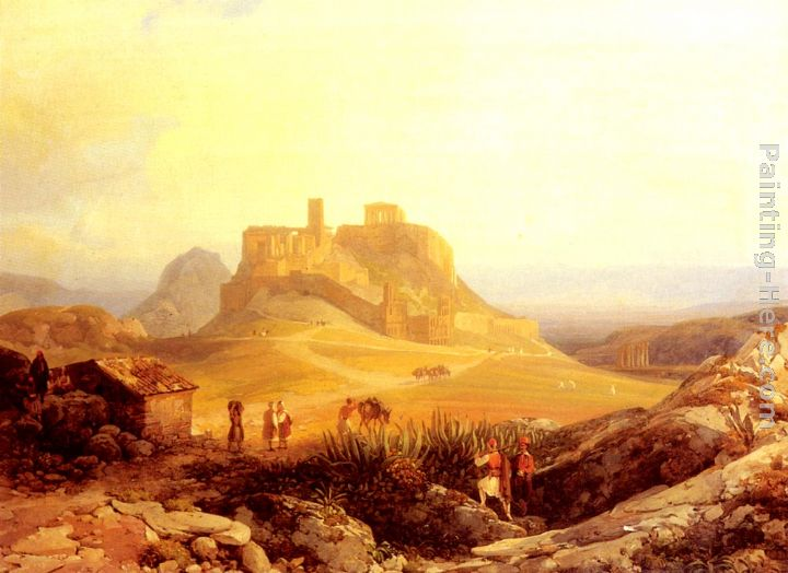 The Acropolis, Athens painting - Thomas Ender The Acropolis, Athens art painting