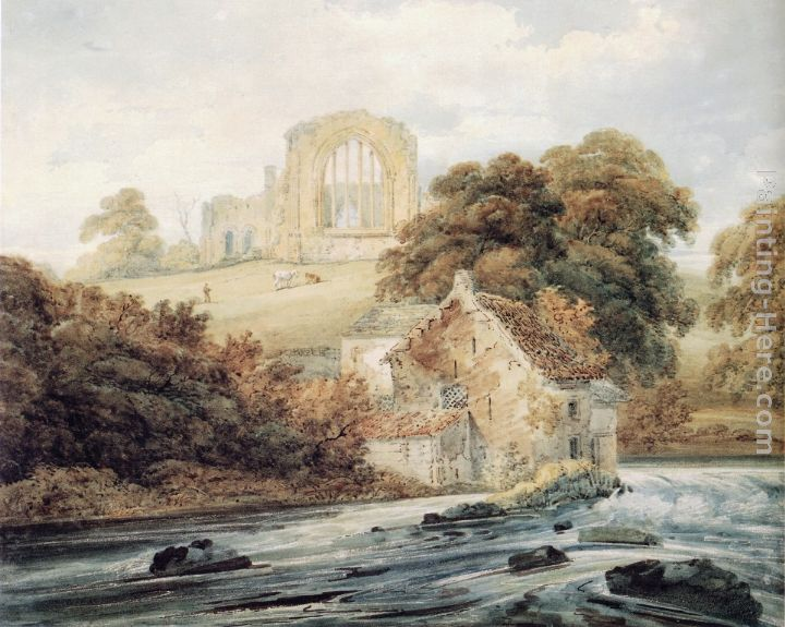 Thomas Girtin Egglestone Abbey, Co.Durham Art Painting