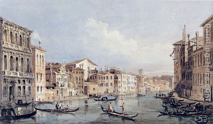 Thomas Girtin Grand Canal, Venice (after Canaletto) Art Painting