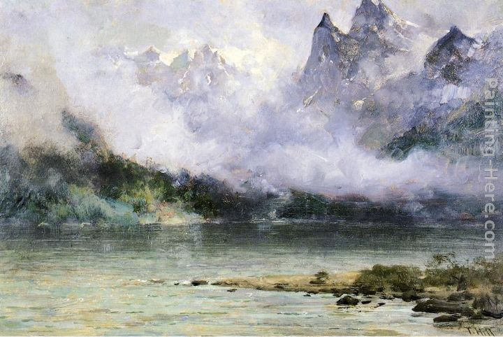 Alaska Scene near Juneau painting - Thomas Hill Alaska Scene near Juneau art painting