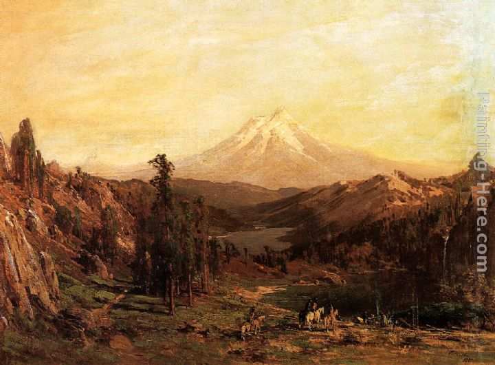 Mount Shasta and Castle Lake, California painting - Thomas Hill Mount Shasta and Castle Lake, California art painting