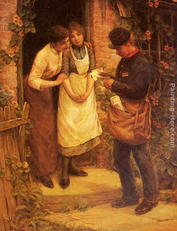 The Postman painting - Thomas Liddall Armitage The Postman art painting