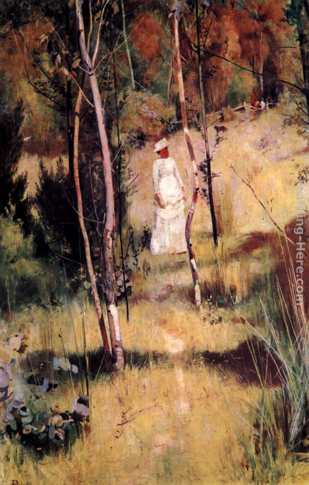 A Summer Morning Tiff painting - Tom Roberts A Summer Morning Tiff art painting