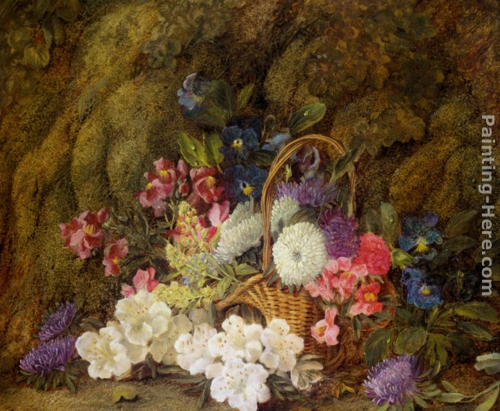 vincent clare still life with a basket of flowers painting anysize
