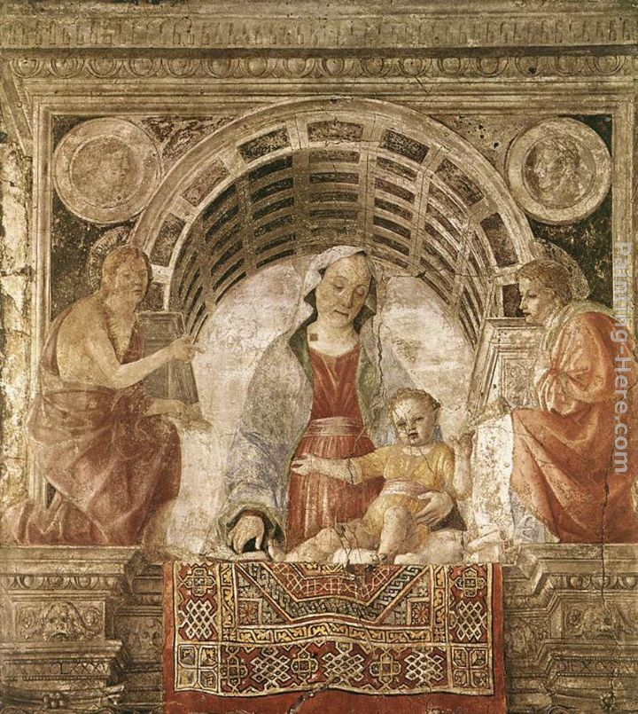 Madonna and Child with St John the Baptist and St John the Evangelist painting - Vincenzo Foppa Madonna and Child with St John the Baptist and St John the Evangelist art painting