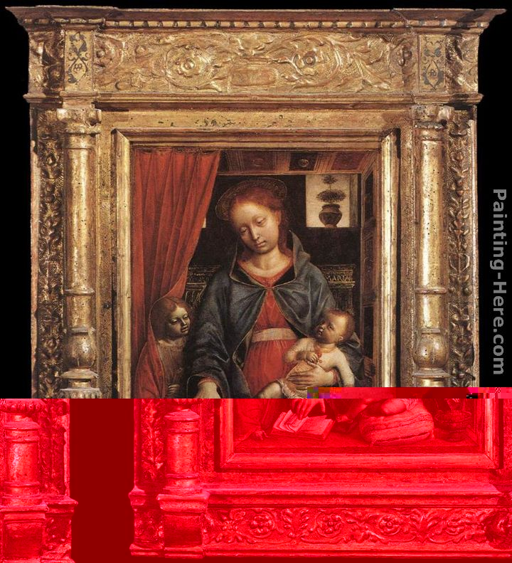 Madonna and Child with an Angel painting - Vincenzo Foppa Madonna and Child with an Angel art painting