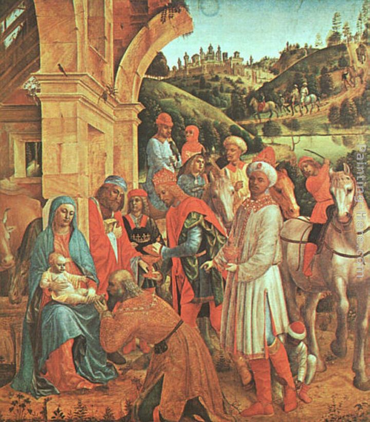 The Adoration of the Kings painting - Vincenzo Foppa The Adoration of the Kings art painting