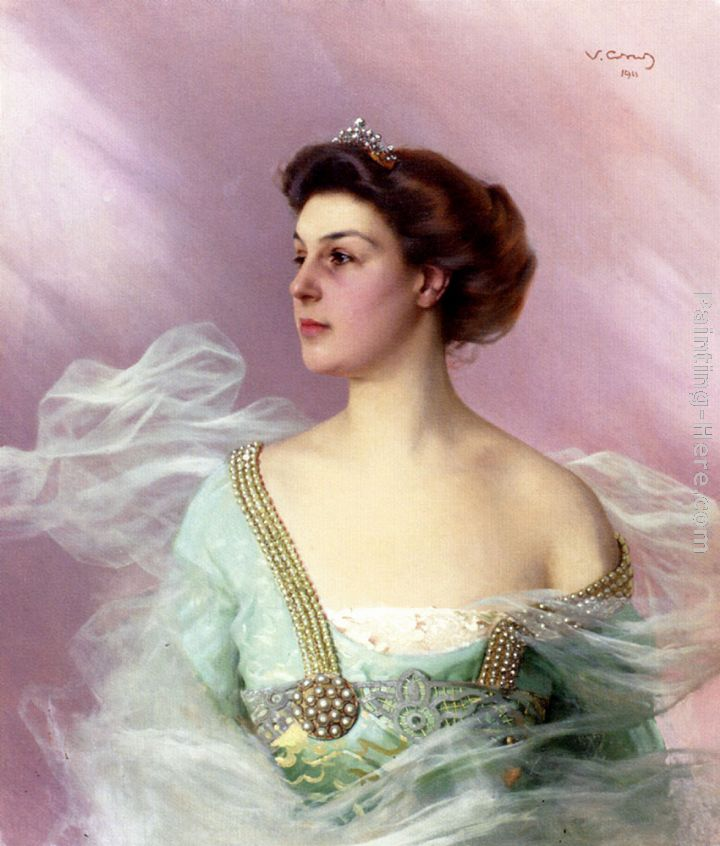 Matteo corcos vittorio matteo corcos portrait of a lady painting