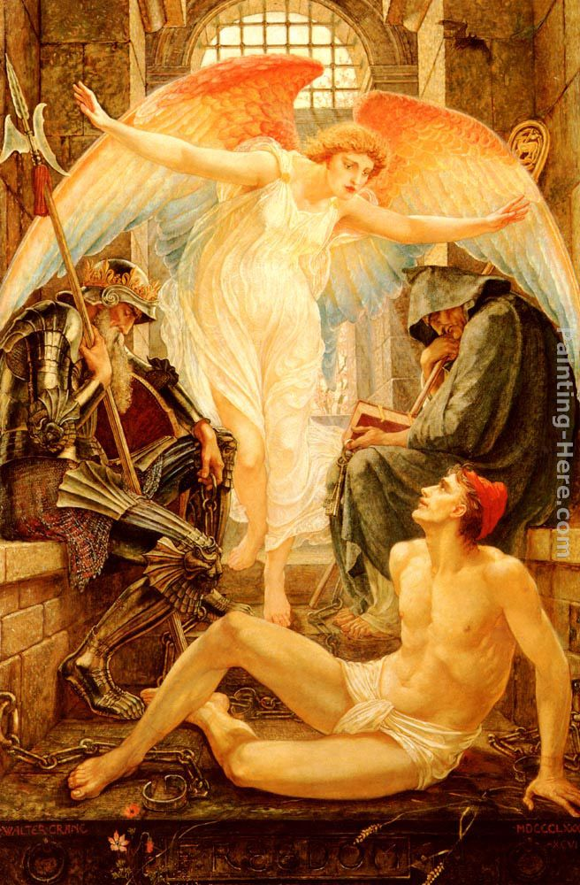 Freedom painting - Walter Crane Freedom art painting