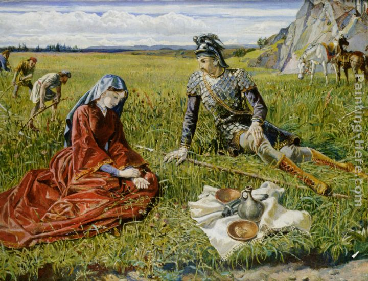 Walter Crane Ruth and Boaz Art Painting