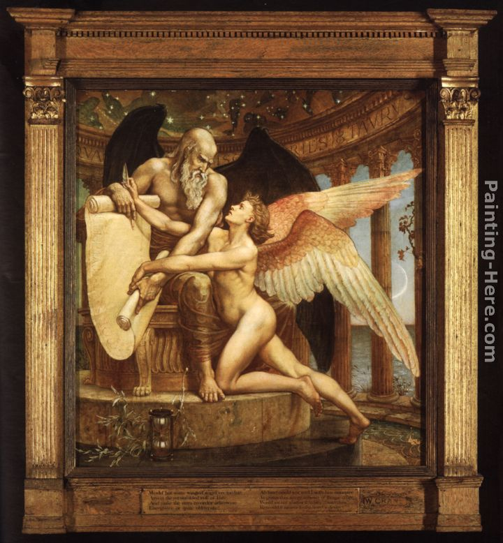 The Roll of Fate painting - Walter Crane The Roll of Fate art painting