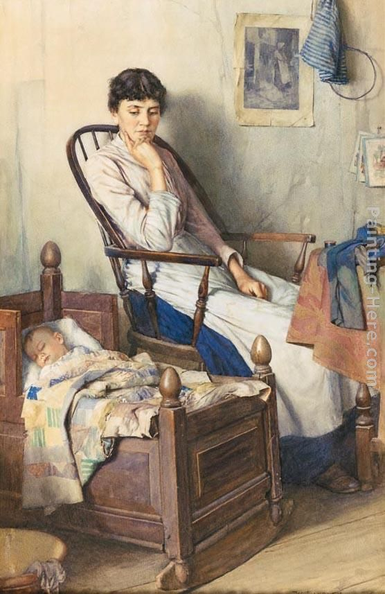 Walter Langley Motherhood Art Painting