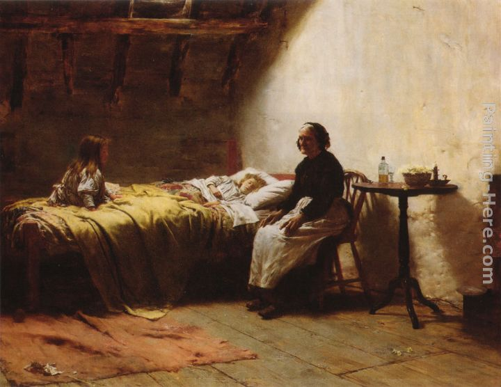 Walter Langley Motherless Art Painting