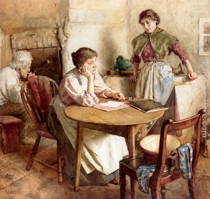 Walter Langley Thoughts Far Away Art Painting