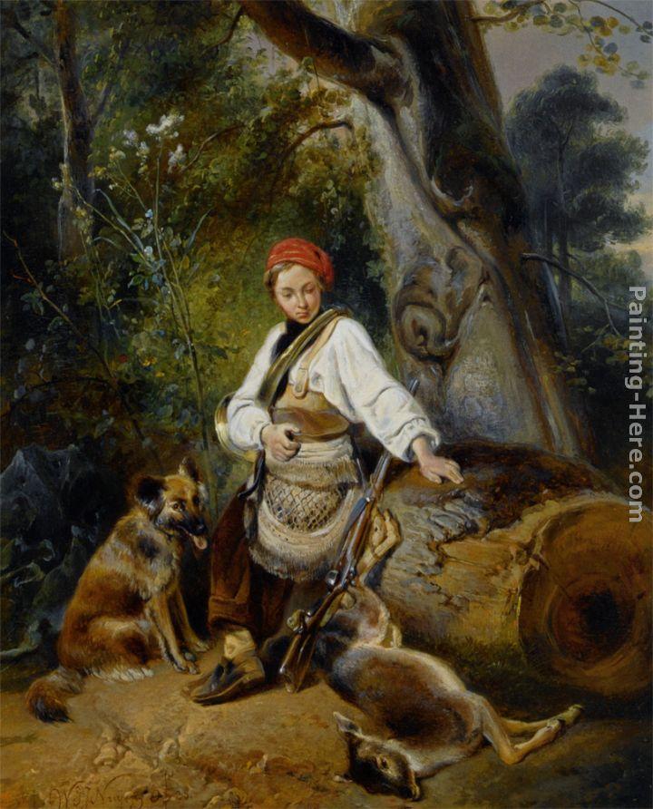 Wijnandus Johannes Josephus Nuyen A Hunter At Rest In The
