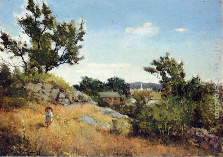 A View of the Village painting - Willard Leroy Metcalf A View of the Village art painting