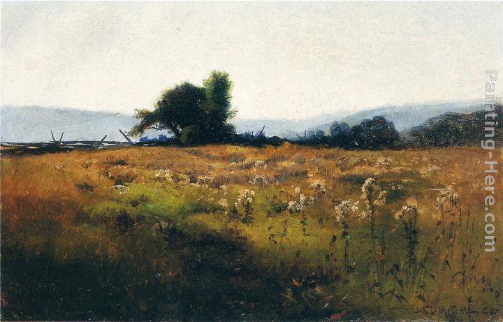 Willard Leroy Metcalf Mountain View from High Field Art Painting