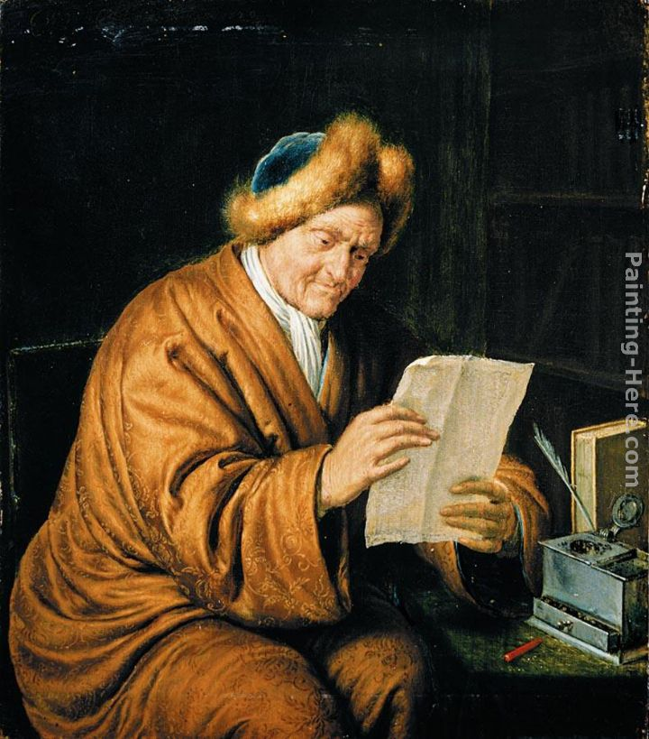 An Old Man Reading