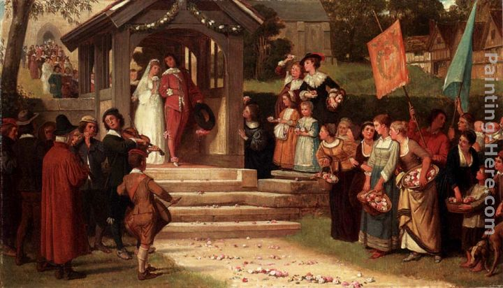 The Path Of Roses painting - William Frederick Yeames The Path Of Roses art painting