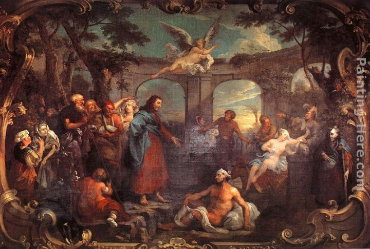 William hogarth the pool of bethesda painting anysize 50 for William hogarth was noted for painting
