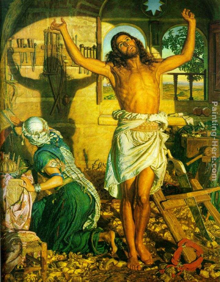 Shadow of Death painting - William Holman Hunt Shadow of Death art painting