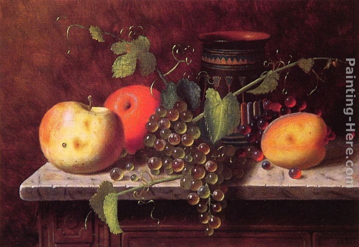 Still Life with Fruit and Vase painting - William Michael Harnett Still Life with Fruit and Vase art painting