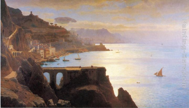 William Stanley Haseltine Amalfi Coast Art Painting