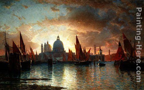 William Stanley Haseltine Santa Maria Della Salute Sunset