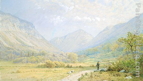 William Trost Richards Franconia Notch, New Hampshire Art Painting