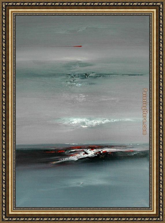 2010 Abstract Skyline vii Framed Painting