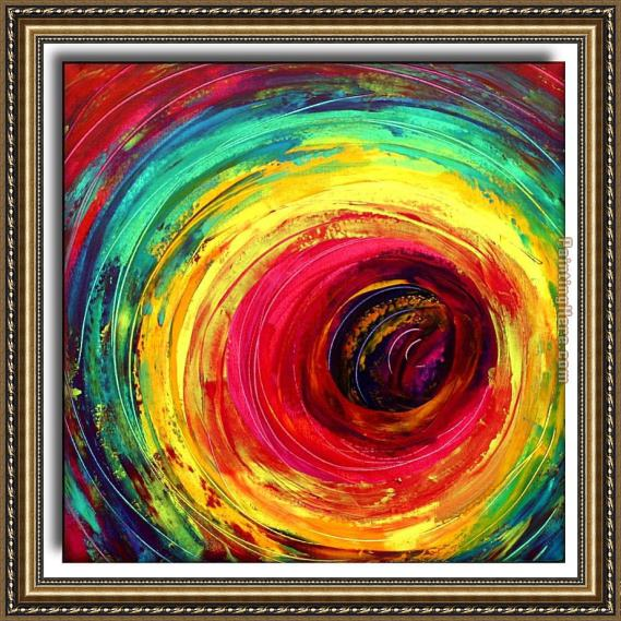 2010 colorful dance circle Framed Painting