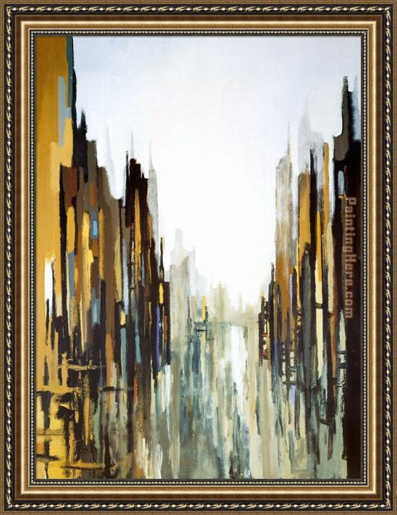 2010 Urban Abstract No. 141 Framed Painting