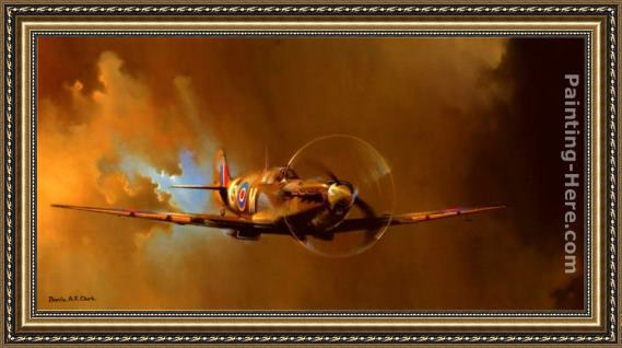 2011 Spitfire By Barrie Clark Framed Painting For Sale