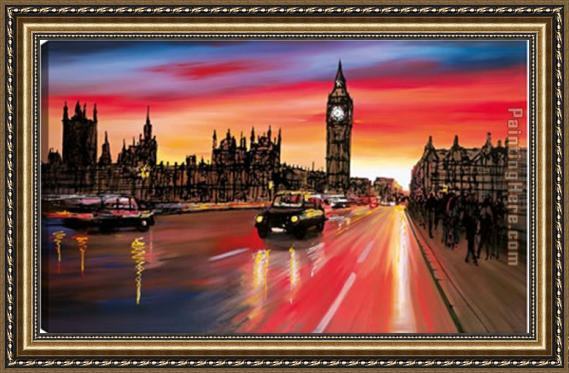 2011 westminster bridge 2 - paul kenton Framed Painting