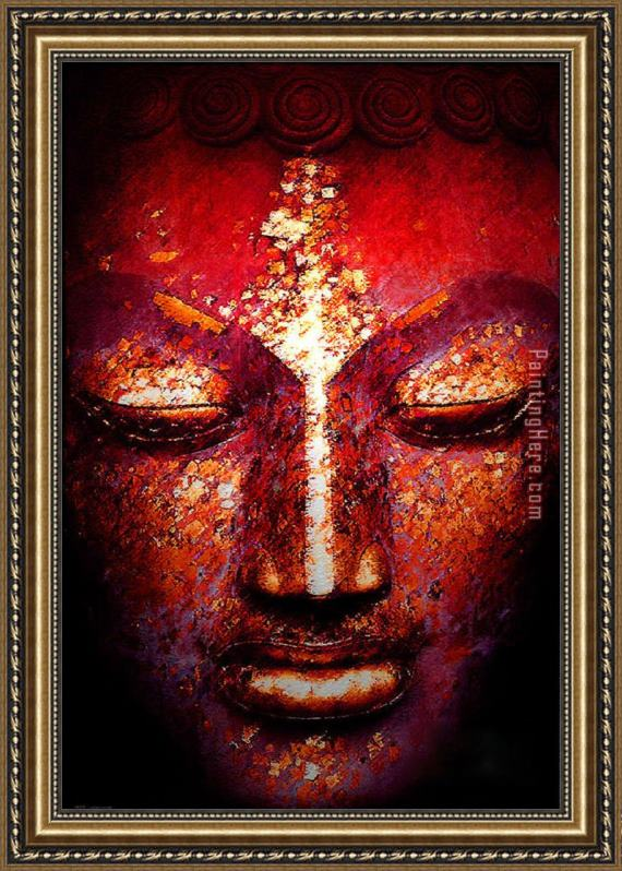 2017 new Buddha Face Framed Painting