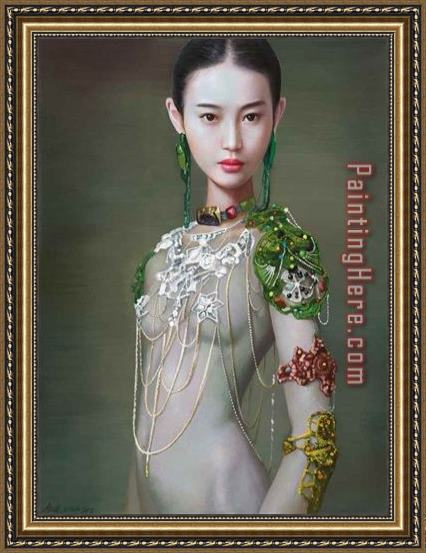 2017 new Mongolian Princess Framed Painting