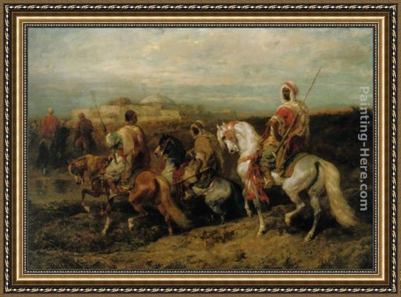 Adolf Schreyer Approaching the City Framed Painting