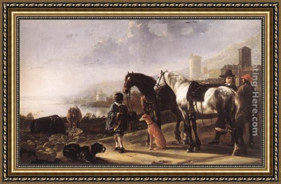 Aelbert Cuyp The Negro Page Framed Painting