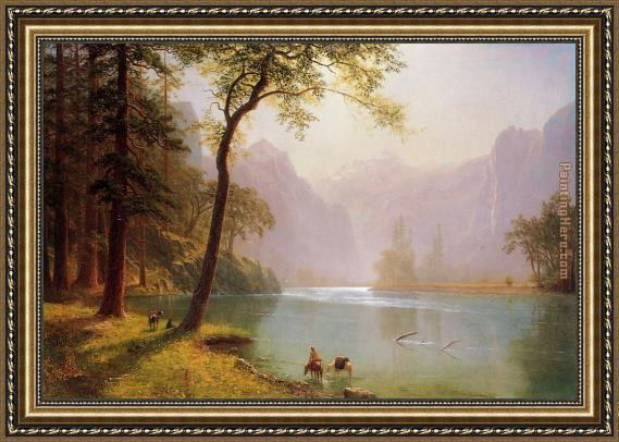 Albert Bierstadt Kerns River Valley California Framed Painting