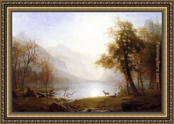 Albert Bierstadt Valley in Kings Canyon Framed Painting