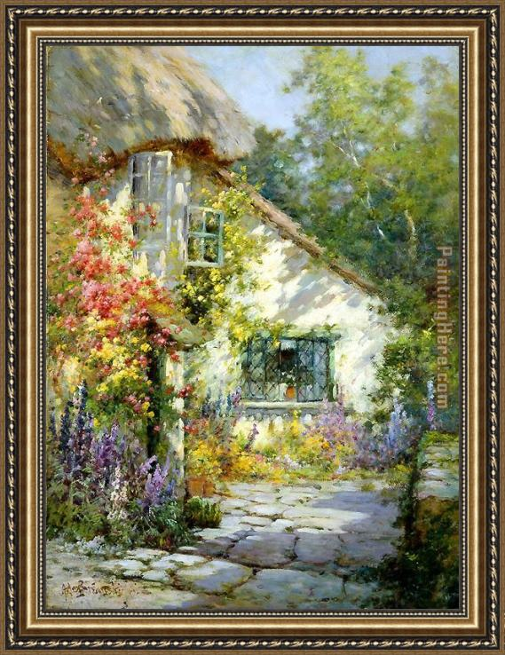Alfred de Breanski A Home in Devon Framed Painting