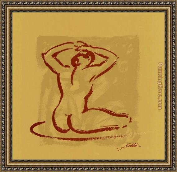 Alfred Gockel Body Language I (gold) Framed Painting