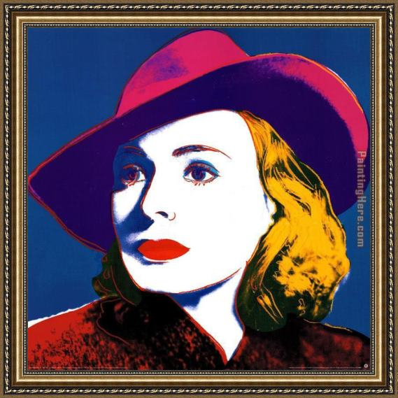 Andy Warhol Ingrid with Hat Framed Painting