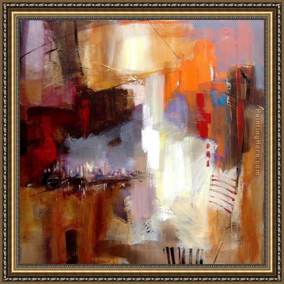 Anna Razumovskaya Sounds of City 3 Framed Painting