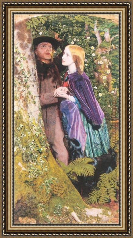 Arthur Hughes The Long Engagement Framed Painting