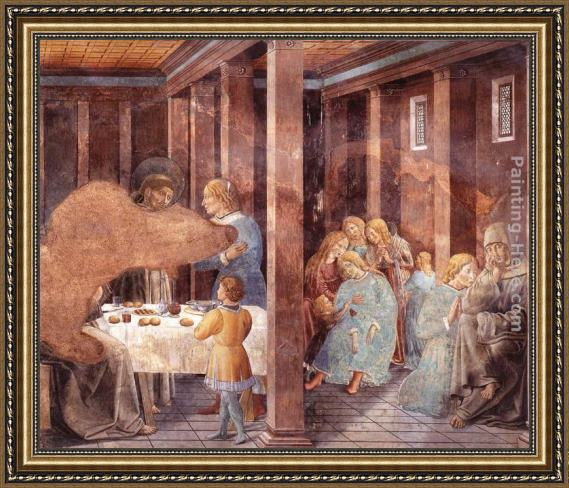 Benozzo di Lese di Sandro Gozzoli Scenes from the Life of St Francis (Scene 8, south wall) Framed Painting