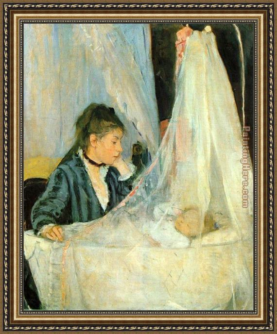 Berthe Morisot The Cradle Framed Painting